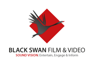 black swan film and video logo design by fardesign.uk